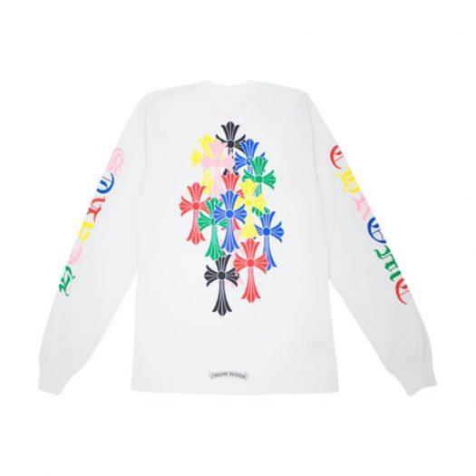 Chrome Hearts Multi Color Cross Cemetery L/S T-shirt White