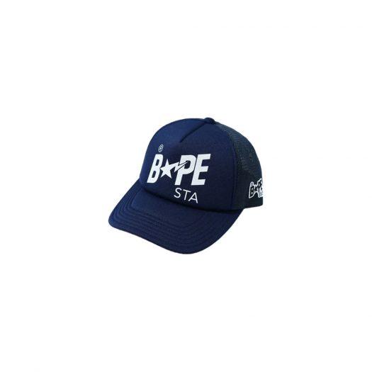 Bape Sta Mesh Cap (Ss21) Navy