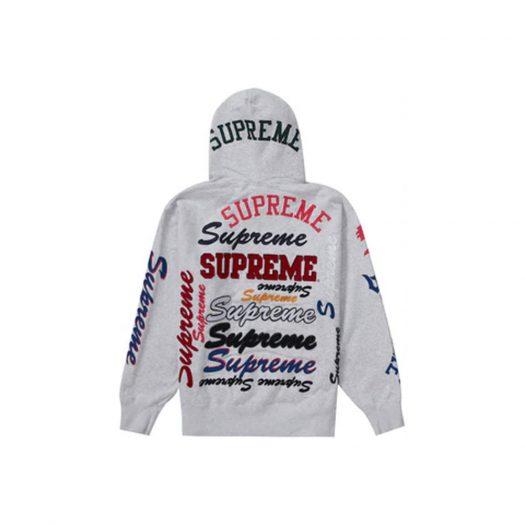 Supreme Multi Logo Hooded Sweatshirt Ash Grey