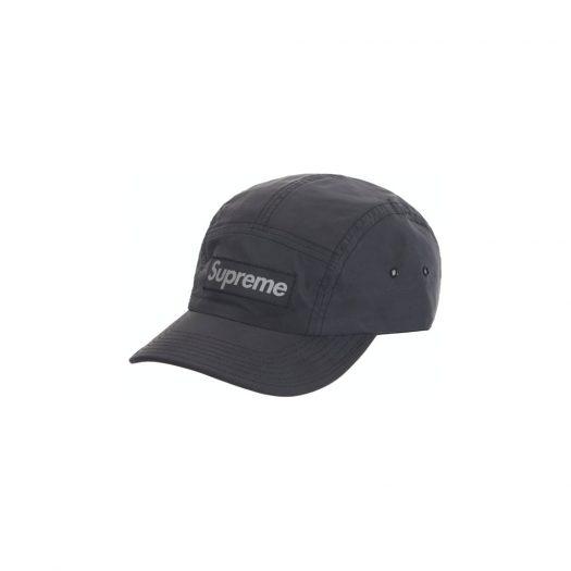 Supreme Reflective Dyed Camp Cap Black