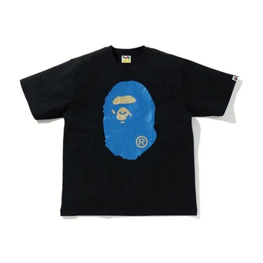 Bape Glitter Big Ape Head Relaxed Fit Tee Black/blue
