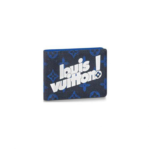 Louis Vuitton Multiple Wallet Monogram Blue