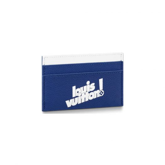 Louis Vuitton Porte Carte Double Card Holder Monogram Blue