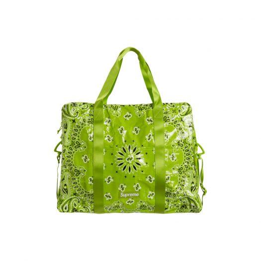 Supreme Bandana Tarp Large Duffle Bag Bright Green