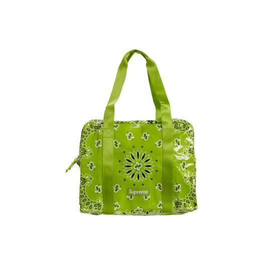 Supreme Bandana Tarp Small Duffle Bag Bright Green