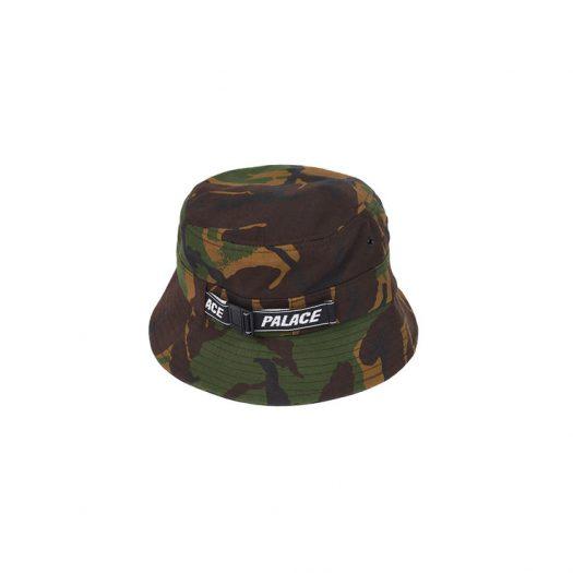 Palace Web Strap Bucket Hat Woodland Camo