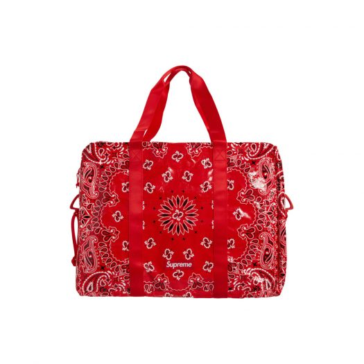 Supreme Bandana Tarp Large Duffle Bag Red