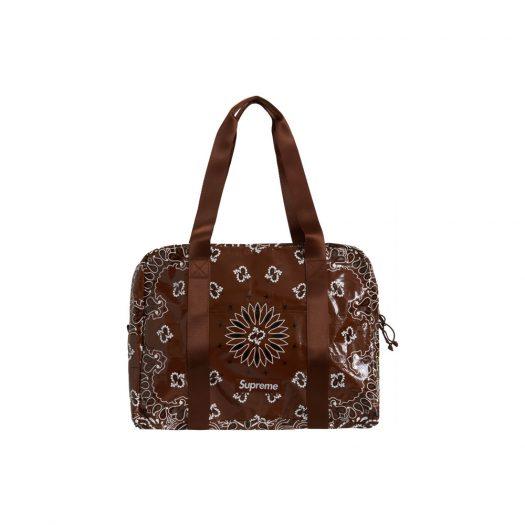 Supreme Bandana Tarp Small Duffle Bag Brown