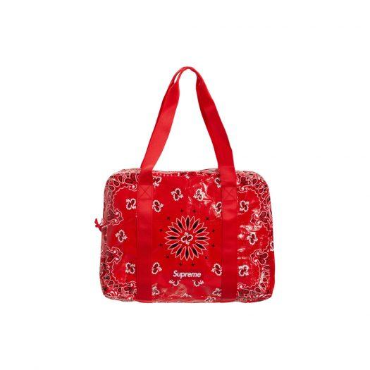 Supreme Bandana Tarp Small Duffle Bag Red