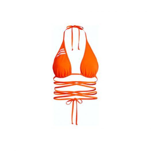 adidas Ivy Park Wrap Bikini Top (Plus Size) Solar Orange