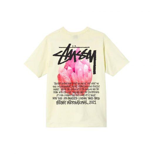 Stussy Reflection T-shirt Pale Yellow