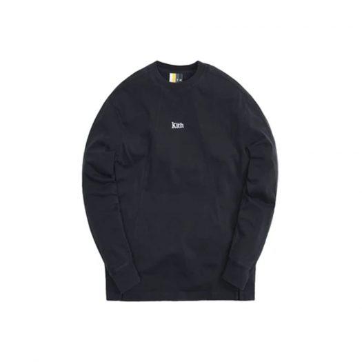 Kith Longsleeve Paneled Pullover Black (SS21)