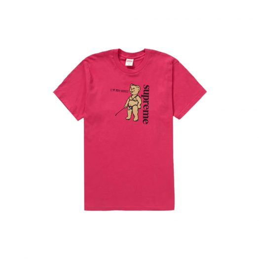 Supreme Not Sorry Tee Pink