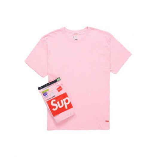 Supreme Hanes Tagless Tees (2 Pack) Pink