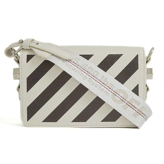 OFF-WHITE C/O VIRGIL ABLOH Striped mini leather cross-body bag