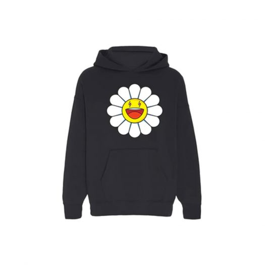 J Balvin Blanco x Takashi Murakami Large Flower Hoodie Black