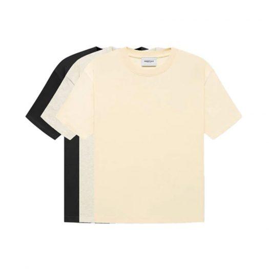 Fear of God Essentials T-shirts (3-Pack) Black/Heather/Cream