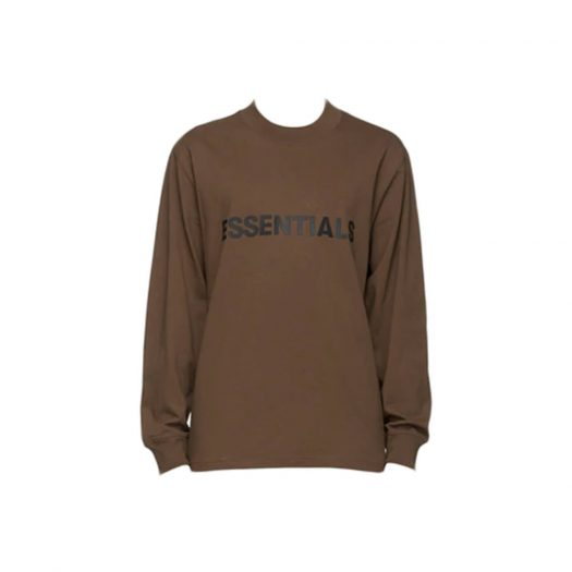 Fear of God Essentials x SSENSE Boxy Long Sleeve T-Shirt Applique Logo Rain Drum