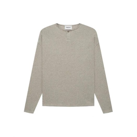 Fear of God Essentials Thermal L/S Henley Heather