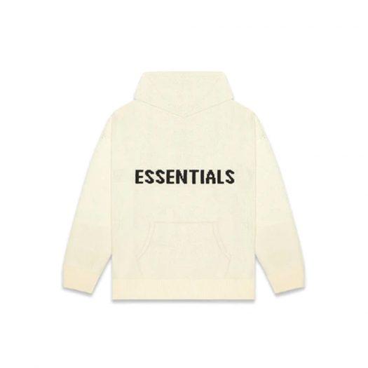 Fear of God Essentials Knit Hoodie (FW20) Cream