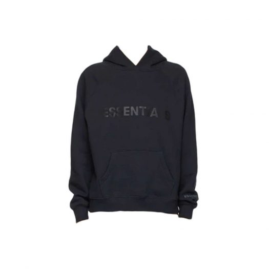 Fear of God Essentials x SSENSE Pullover Hoodie Applique Logo Dark Navy