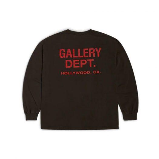 Gallery Dept. Souvenir L/S T-shirt Washed Black/Red