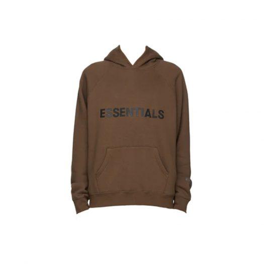 Fear of God Essentials x SSENSE Pullover Hoodie Applique Logo Rain Drum