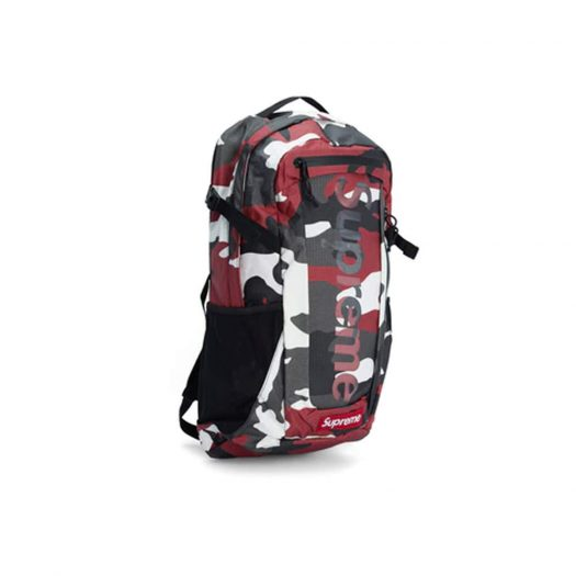 Supreme Backpack Backpack (SS21) Red Camo