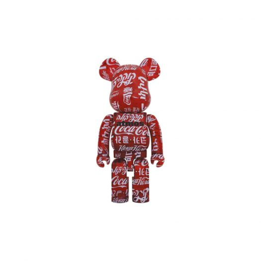 Bearbrick atmos x Coca-Cola 1000% Clear Red