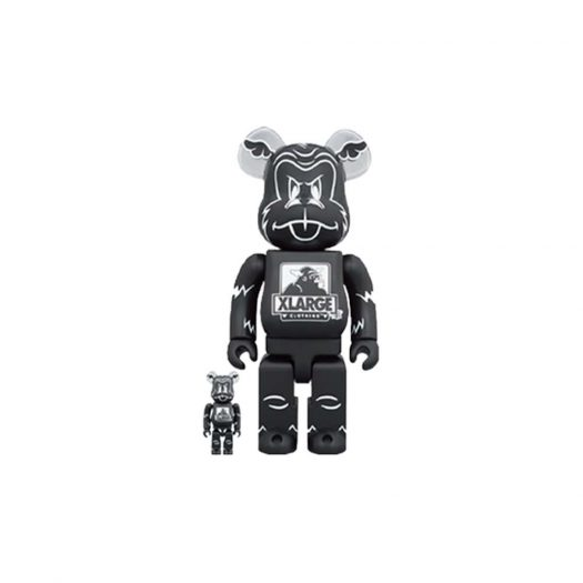 Bearbrick XLARGE x D*Face 100% & 400% Set Black