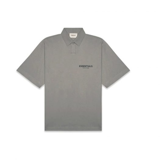 Fear of God Essentials Short Sleeve Boxy Polo Cement
