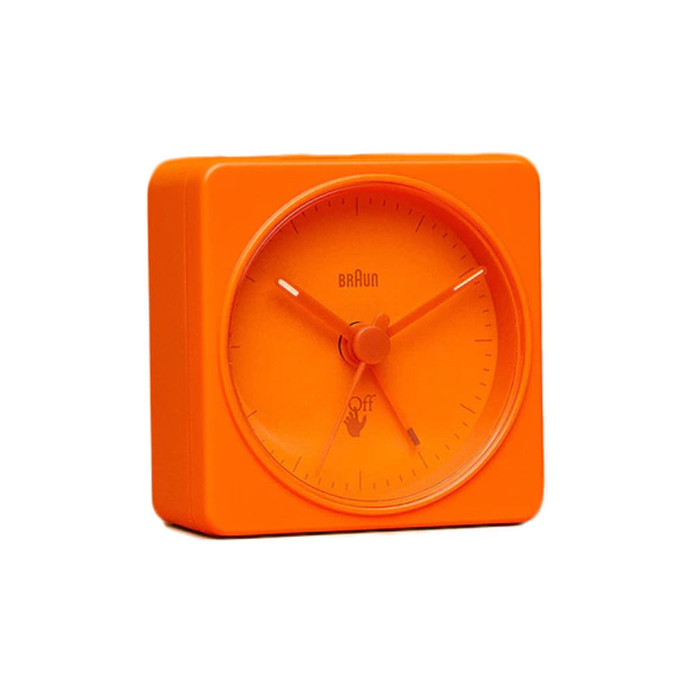 Virgil Abloh Braun Off-White Alarm Clock Orange