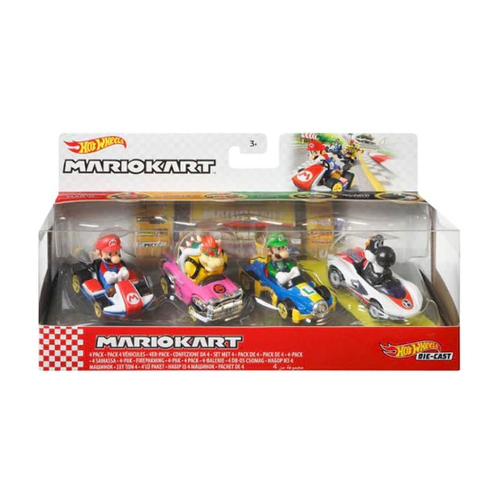 Hot Wheels Mario Kart Bundle 4-Pack