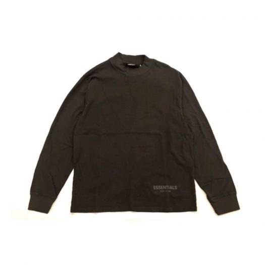 Fear of God Essentials Boxy Long Sleeve T-shirt Black Ink