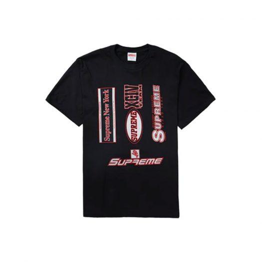Supreme Multi Logos Tee Black