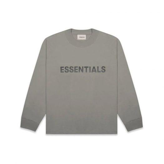 Fear of God Essentials Boxy Long Sleeve T-Shirt Applique Logo Cement
