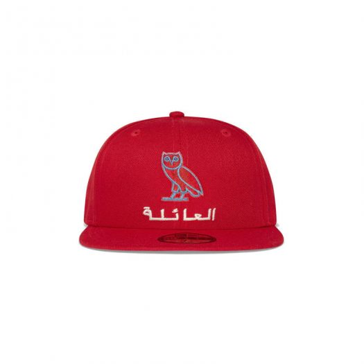 OVO New Era Family Owl 59Fifty Hat Red