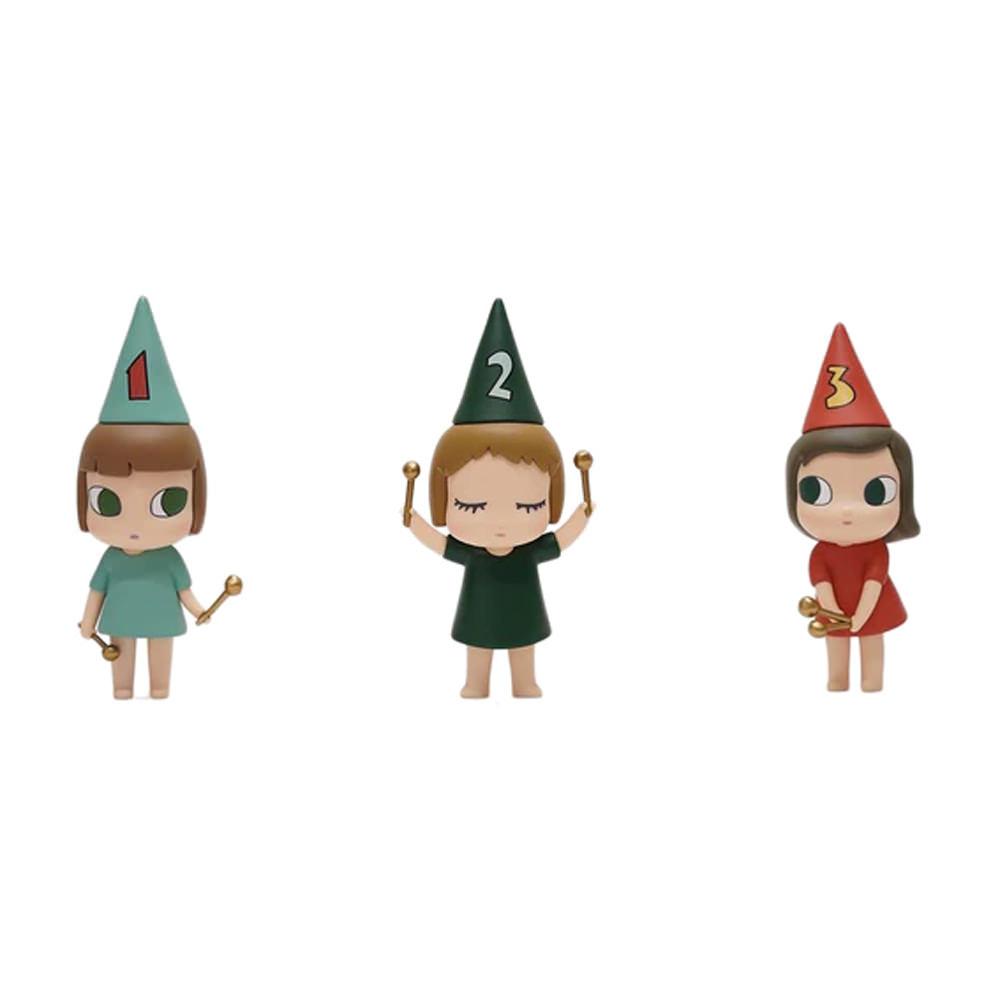 Yoshitomo Nara 123 Drumming Girls Figures (Set of 3)