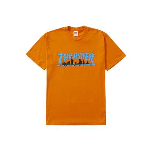 Supreme Thrasher Skyline Tee Orange
