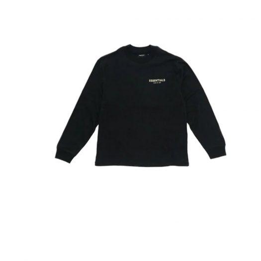 Fear of God Essentials Long Sleeve Photo T-shirt Black