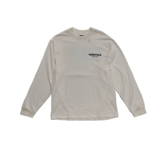 Fear of God Essentials Long Sleeve Photo T-shirt White