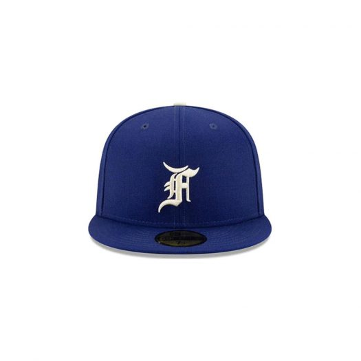 Fear of God Essentials New Era 59Fifty 2020 World Series Patch Fitted Hat (FW21) Dark Royal
