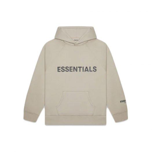 Fear of God Essentials Pullover Hoodie Applique Logo Olive/Khaki