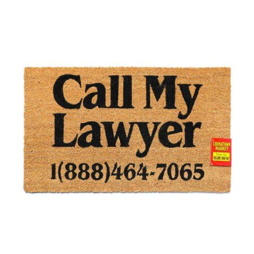 Chinatown Market Call My Lawyer Doormat