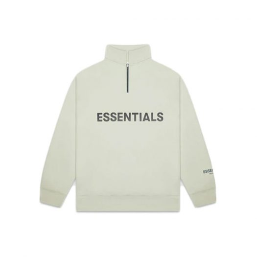 Fear of God Essentials Half Zip Pullover Sweater Alfalfa Sage
