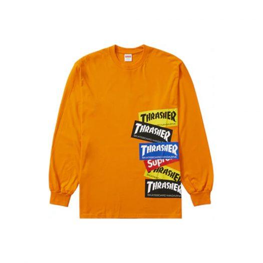 Supreme Thrasher Multi Logo L/S Tee Orange