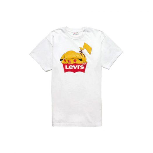 Levis x Pokémon Pikachu Unisex Short Sleeve T-shirt White