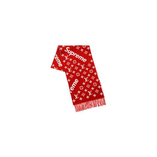Supreme x Louis Vuitton Monogram Scarf Red