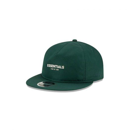 Fear of God Essentials New Era 9Fifty Retro Crown A-Frame Hat Green