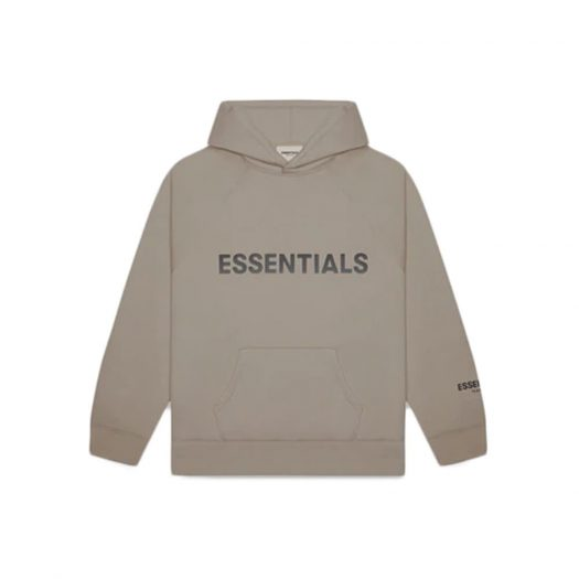 Fear of God Essentials Pullover Hoodie Applique Logo Taupe